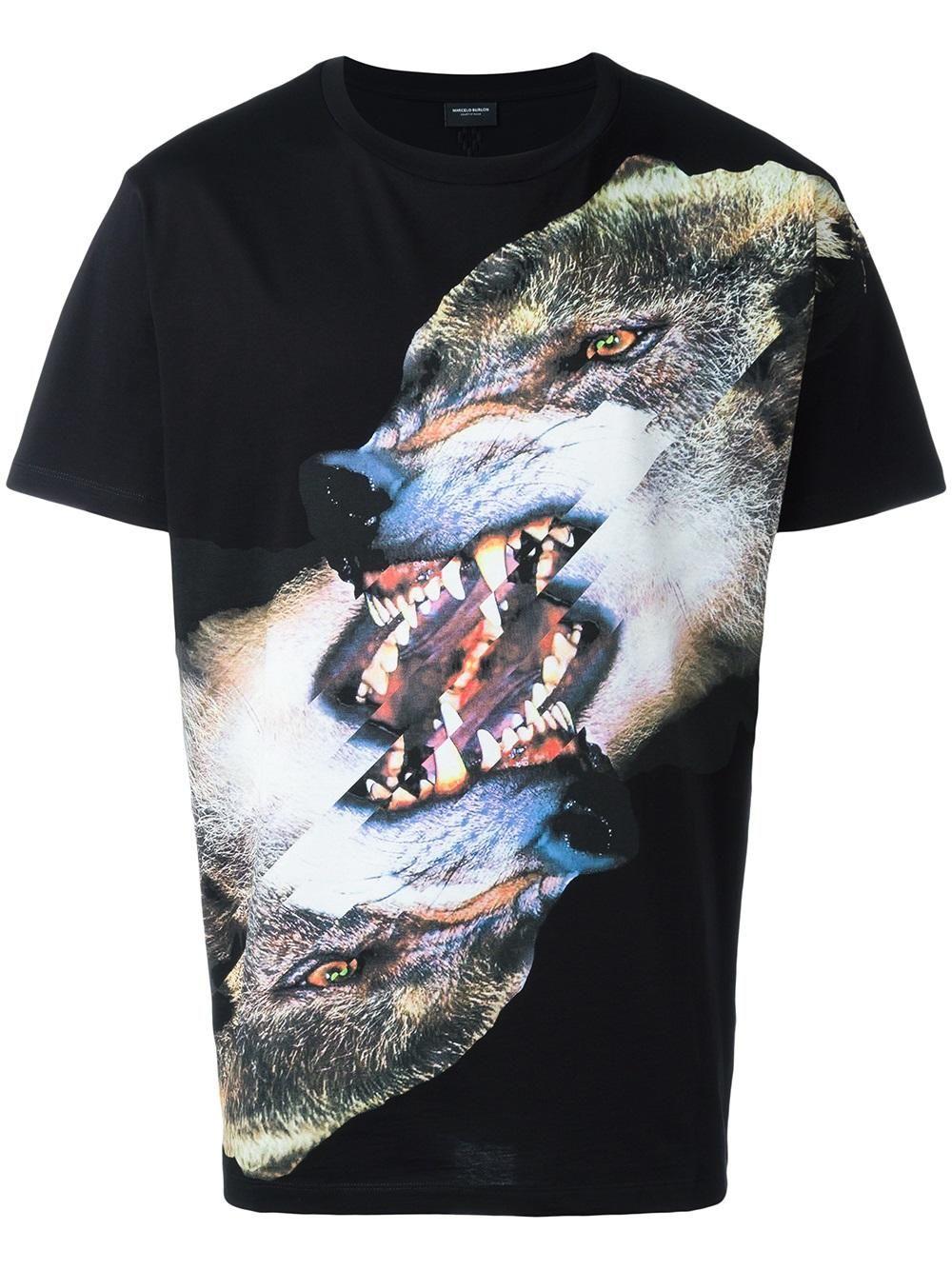 Marcelo Burlon County Of Milan camiseta con estampado de lobo