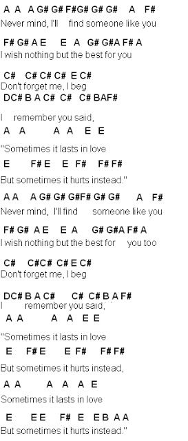 Flute Sheet Music: Someone Like You   Music   Pinterest   Sheet ...