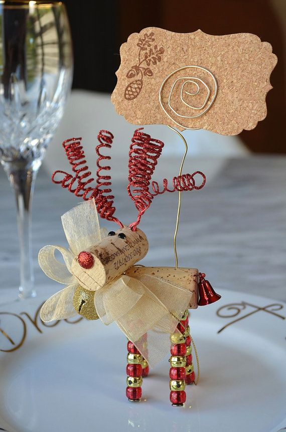 Reindeer Placecard Holders Wine Cork Projects Crafts Bottle