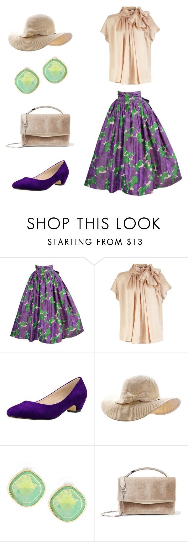 """""""Springtime Lady"""" by tania-san ❤ liked on Polyvore featuring Yves Saint Laurent, Lydell NYC and Eddie Borgo"""