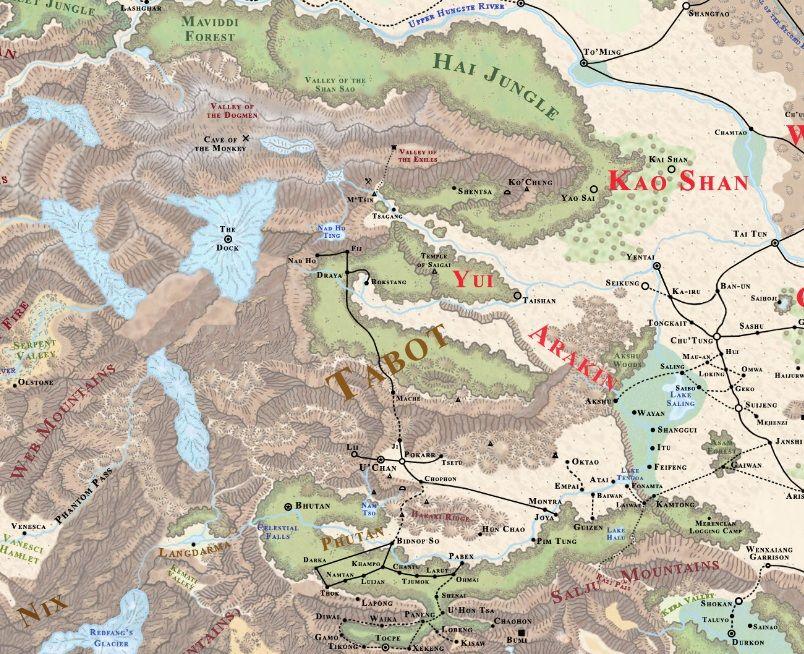 Kara-Tur05   Places of Fantasy - Maps in 2019   Fantasy map ...
