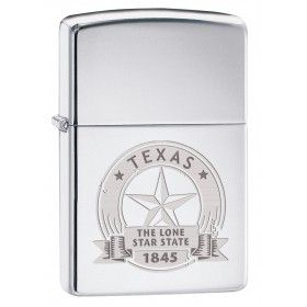 Chrome or Black Star Windproof Petrol Lighter with Gift Tin