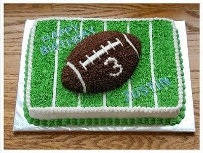 f1db558509a3 Top 21 Football Themed Birthday Cake Ideas
