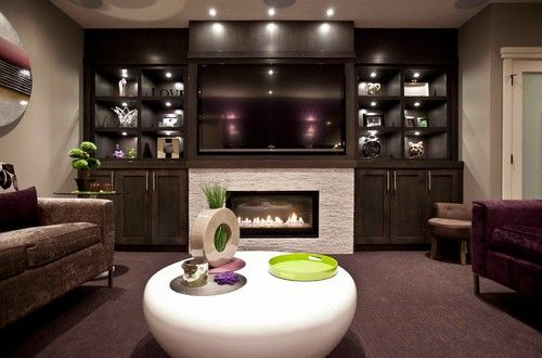 Modern Fireplace Designs With Glass For The Contemporary Home - Basement fireplace design ideas