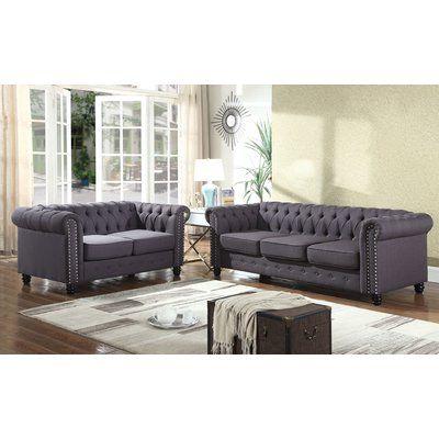 Alcott Hill Sweetbriar Sofa And Loveseat Set Upholstery Klein