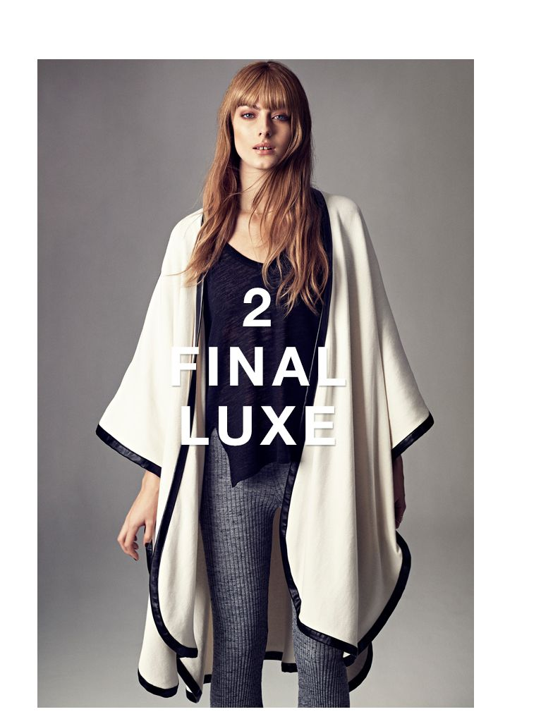 The new, luxurious poncho immediately adds an elegant touch. www.ginatricot.com
