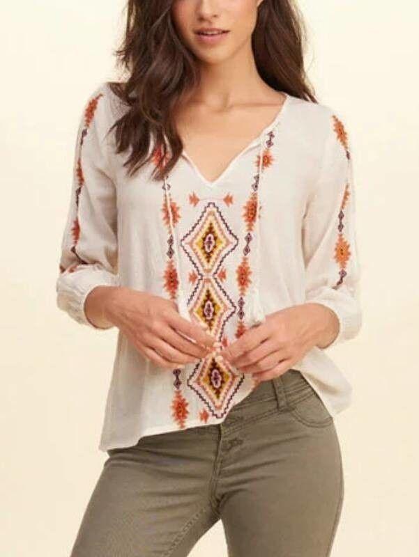 b2aed37bc Bata Hippie Chic Bordada - Compre Online Blusas De Algodão, Blusas  Listradas, Batas Branca