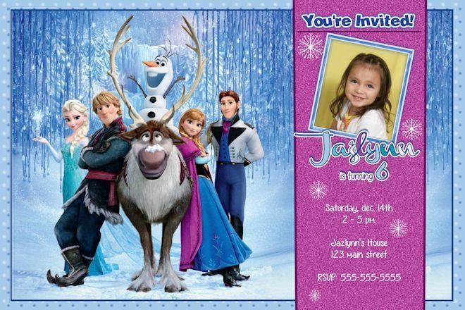 Frozen Birthday Invitation - Disney's Frozen Birthday Invitation ...