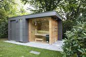 Photo of Garden sauna, pool house, garden shower by garden protagonists modern – #Designgart …