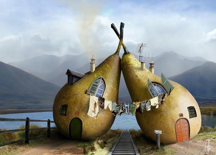 Pear house for the fairies