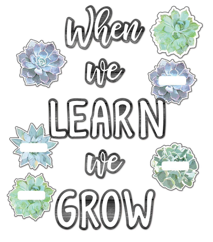 Simply Stylish When We Learn We Grow Bulletin Board Set | JOANN