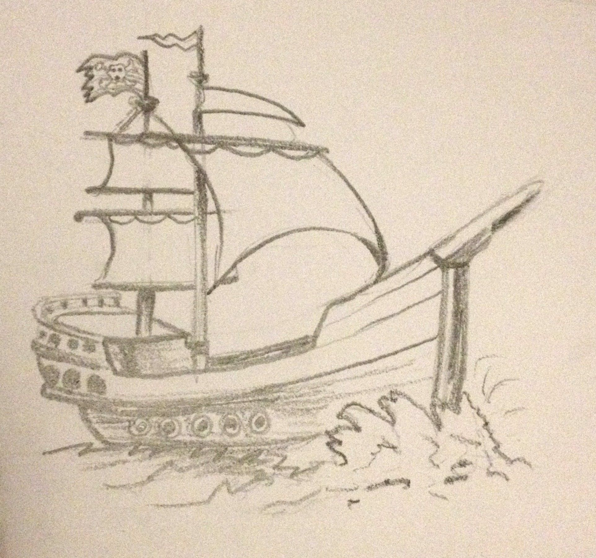 Pencil sketch pirate ship art inspiration in 2019 sketches ship
