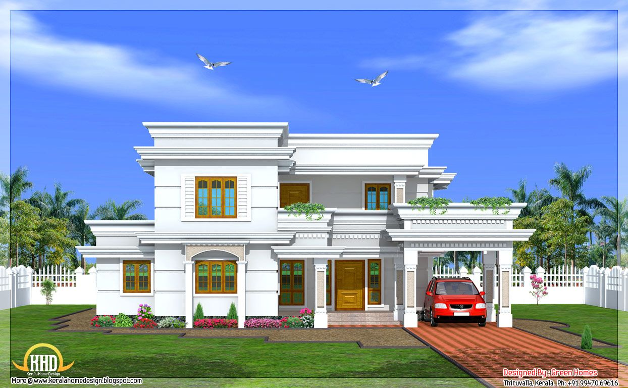 Story 4 bedroom house design green homes thiruvalla kerala home design 2
