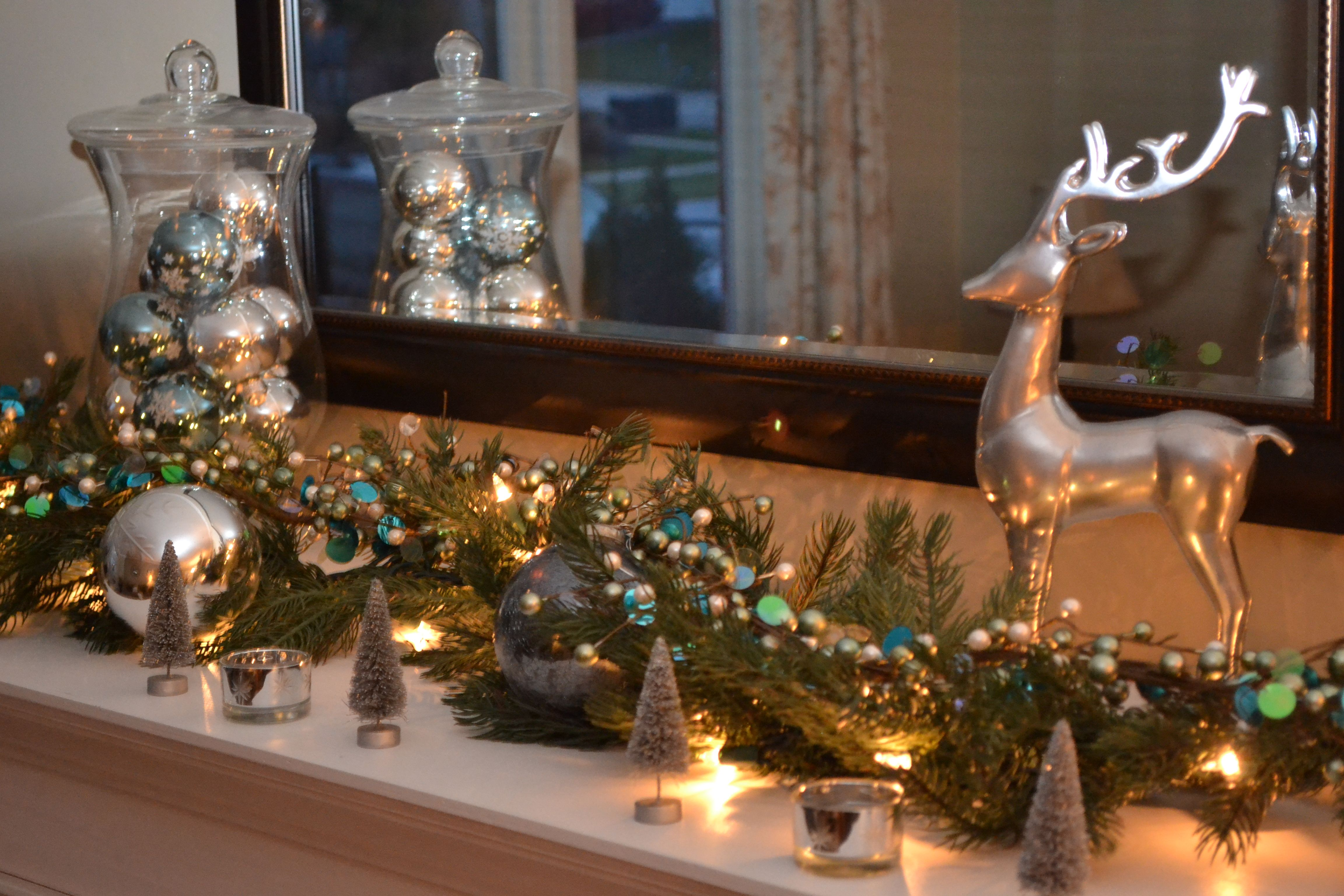 Christmas mantel decor christmas ideas pinterest christmas