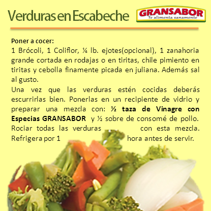Verduras en Escabeche de Guatemala | Recetas | Verduras en