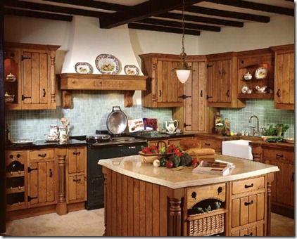 decoracion de cocinas rusticas Inspiración de mi casa Pinterest