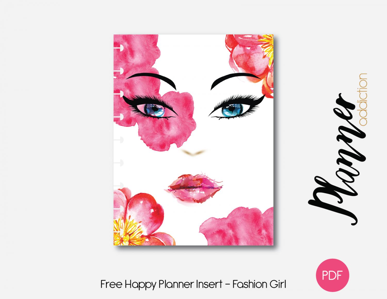 free printable insert for happy planner fashion girl planners rh pinterest co uk
