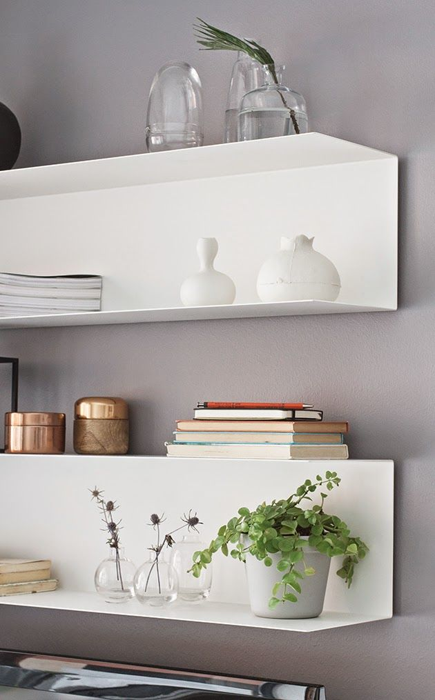Between White Light Wood And Green Ikea Floating Shelves Decor Interior