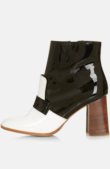 Topshop 'Pop Message' Leather Ankle Boots (Women) (Brit Pop-In) available at #Nordstrom