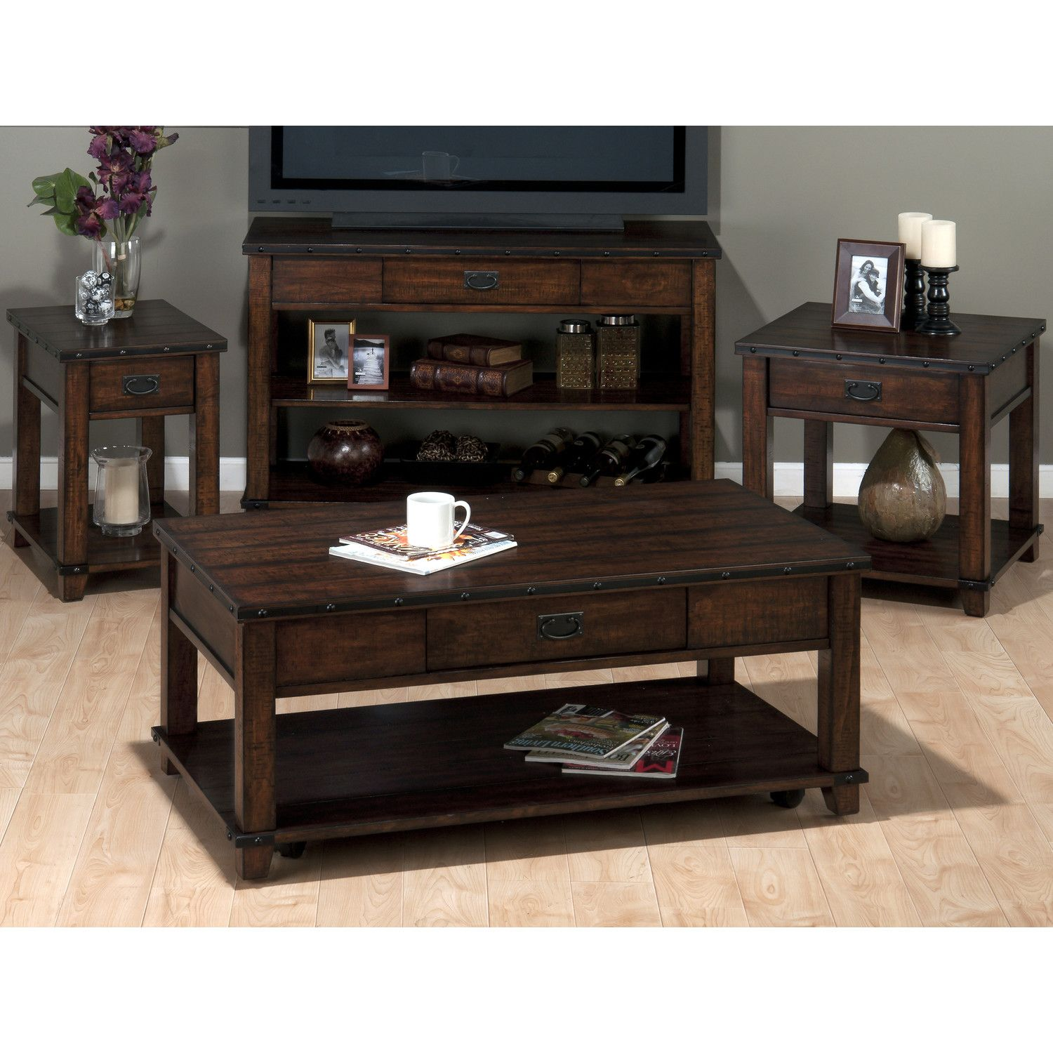 Jofran Cassidy Coffee Table Set & Reviews Wayfair (With