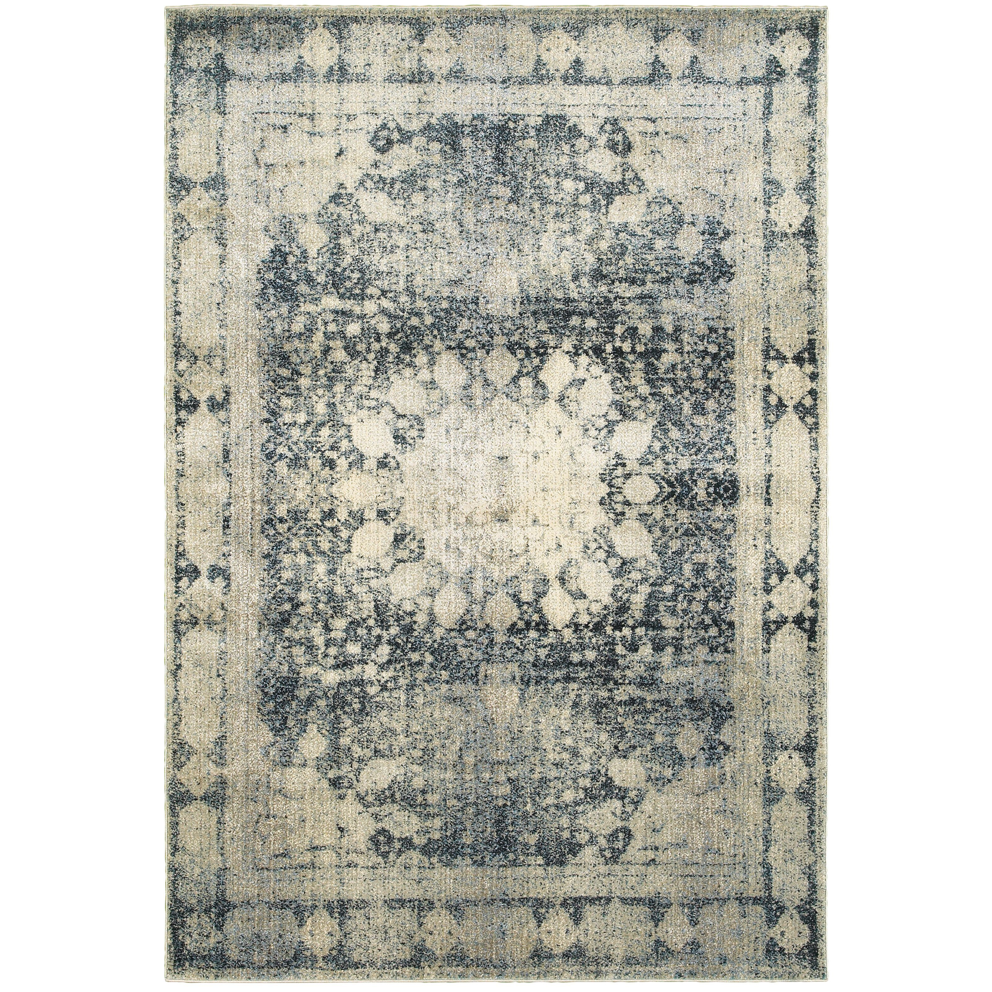 Oriental Weavers Empire 4445s Ivory Blue Oriental Area Rug Area Rugs Blue Area Rugs Traditional Rugs