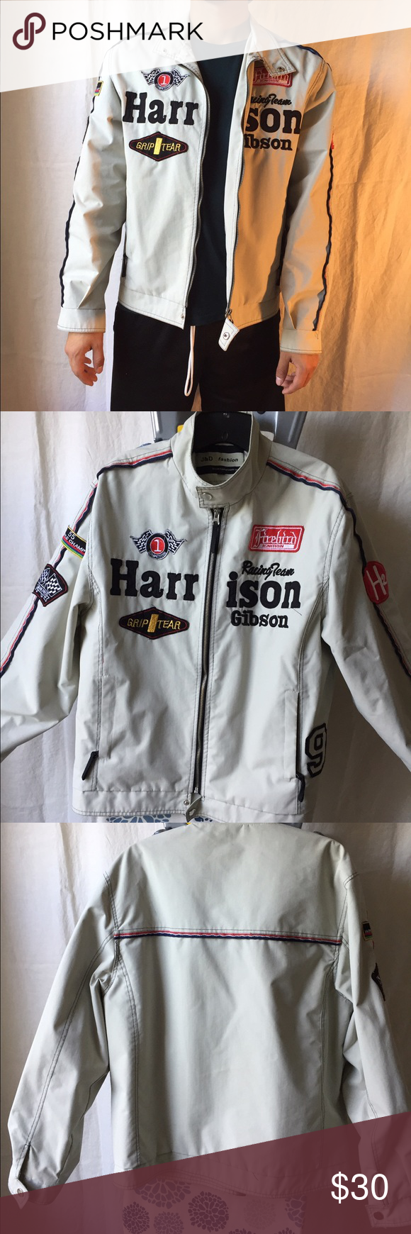 ee2262abb Vintage Harrison Gibson Racing Team Jacket Zip up jacket, button at ...
