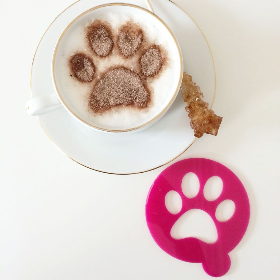 Labrador Retriever /& dog paw in heart coffee cup cappuccino stencils reusable many times present gift fundraising