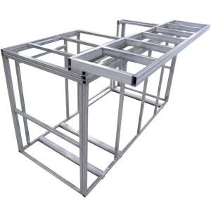 Cal Flame 6 Ft Outdoor Kitchen Island Frame Kit With Bartop Kd F6016 The Home Depot In 2021 Outdoor Kitchen Island Kitchen Island Frame Build Outdoor Kitchen