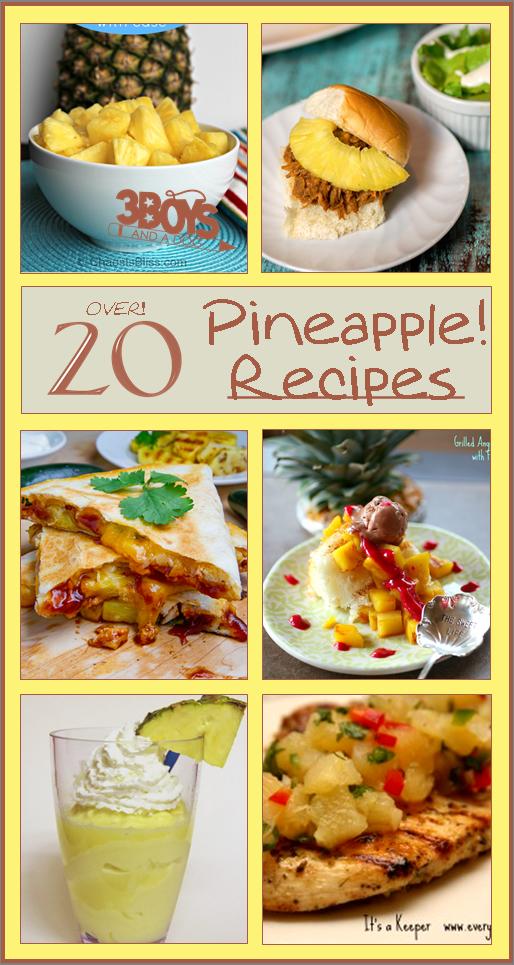 20 Fresh Pineapple Recipes 22 Fresh Pineapple Recipes {March Seasonal Fruit}Over 20 Fresh Pineapple Recipes 22 Fresh Pineapple Recipes {March Seasonal Fruit}