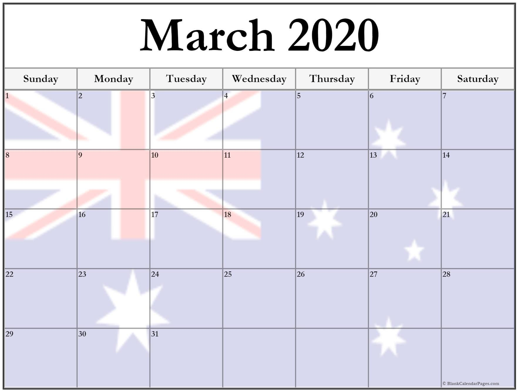 Free March 2020 Calendar Holidays Printable Templates In 2020