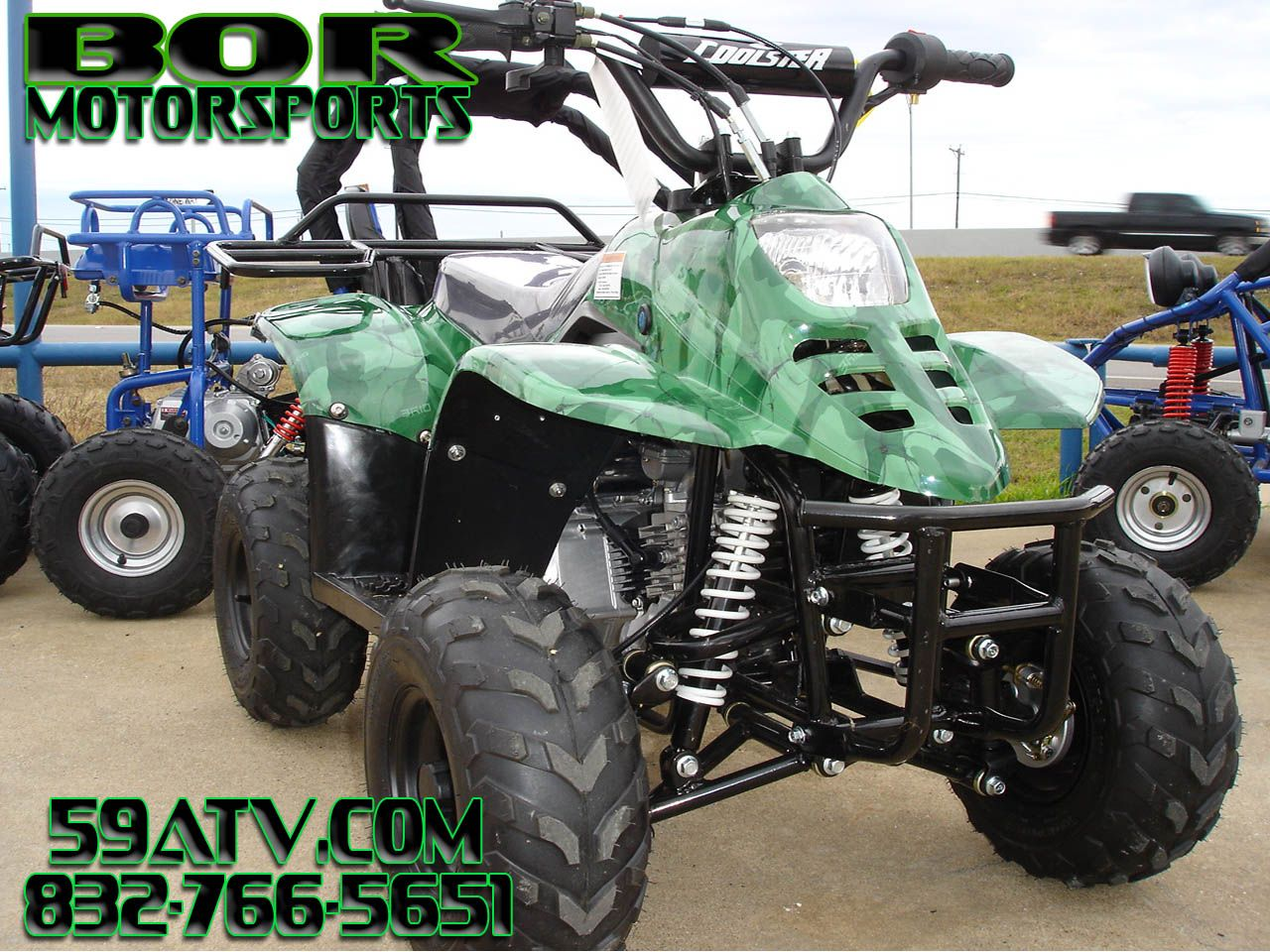 Green Camo 110cc Beginner Kids 4 Wheeler. This Kids ATV comes ...