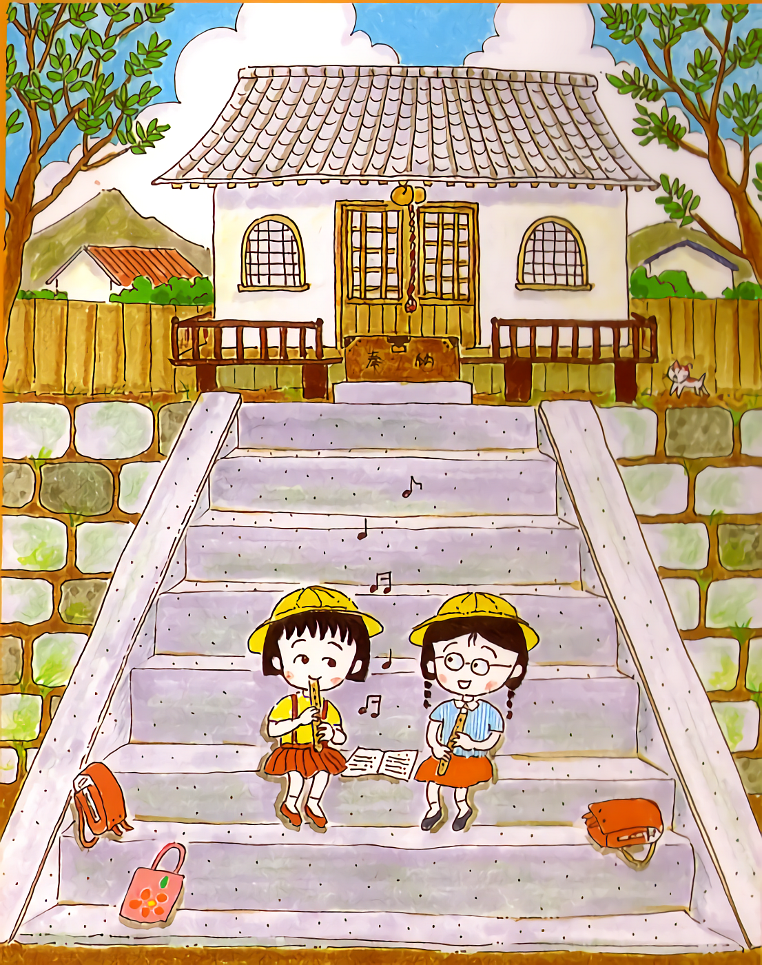 Chibi Maruko Chan 배경화면, 그림, 아트 드로잉