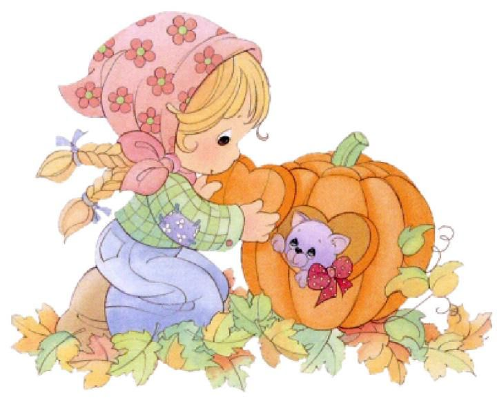 Precious Moments Fall | Precious Moments Clip Art. Fall ...