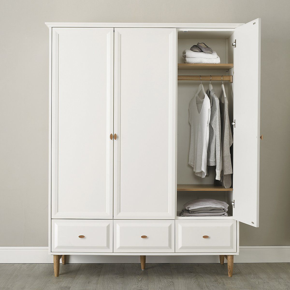 Ercol Devon Wardrobe Bedroom Furniture Home The White Company Uk