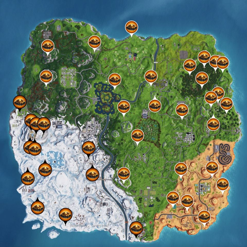 Where to find environmental campfires in Fortnite Campfires now have