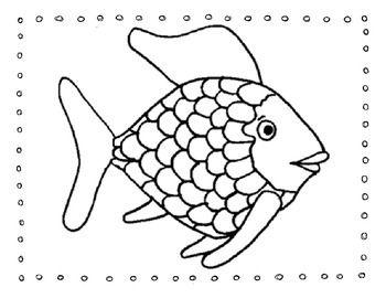 Rainbow Fish Friendship Writing Activity Rainbow Fish Template Fish Coloring Page Rainbow Fish Coloring Page