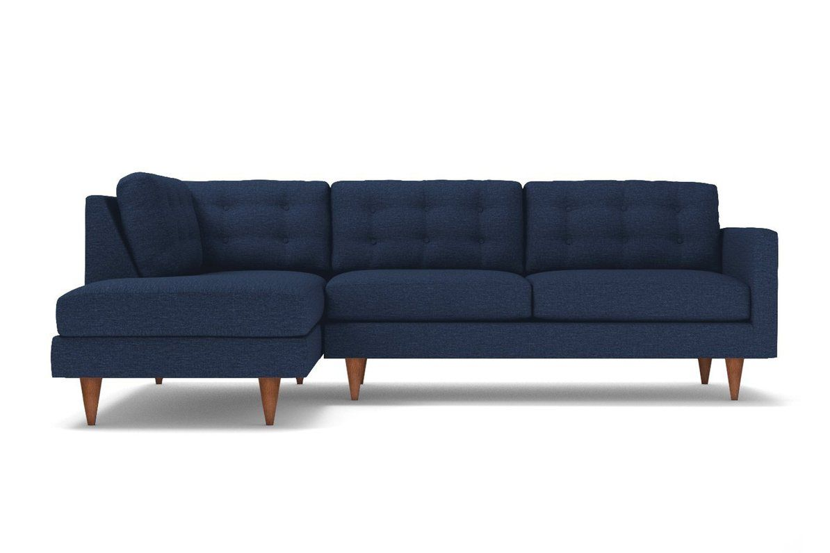 Logan 2pc Sectional Sofa Leg Finish Pecan Configuration Laf Chaise On The Left