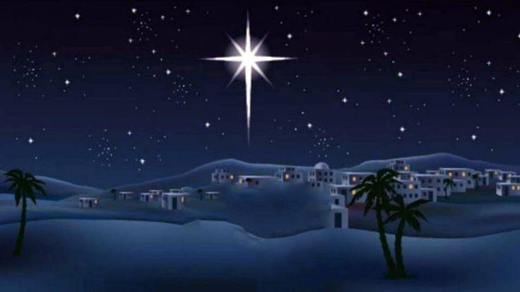 Sfondo con la stella cometa | Presepe di natale, Sfondi, Natale