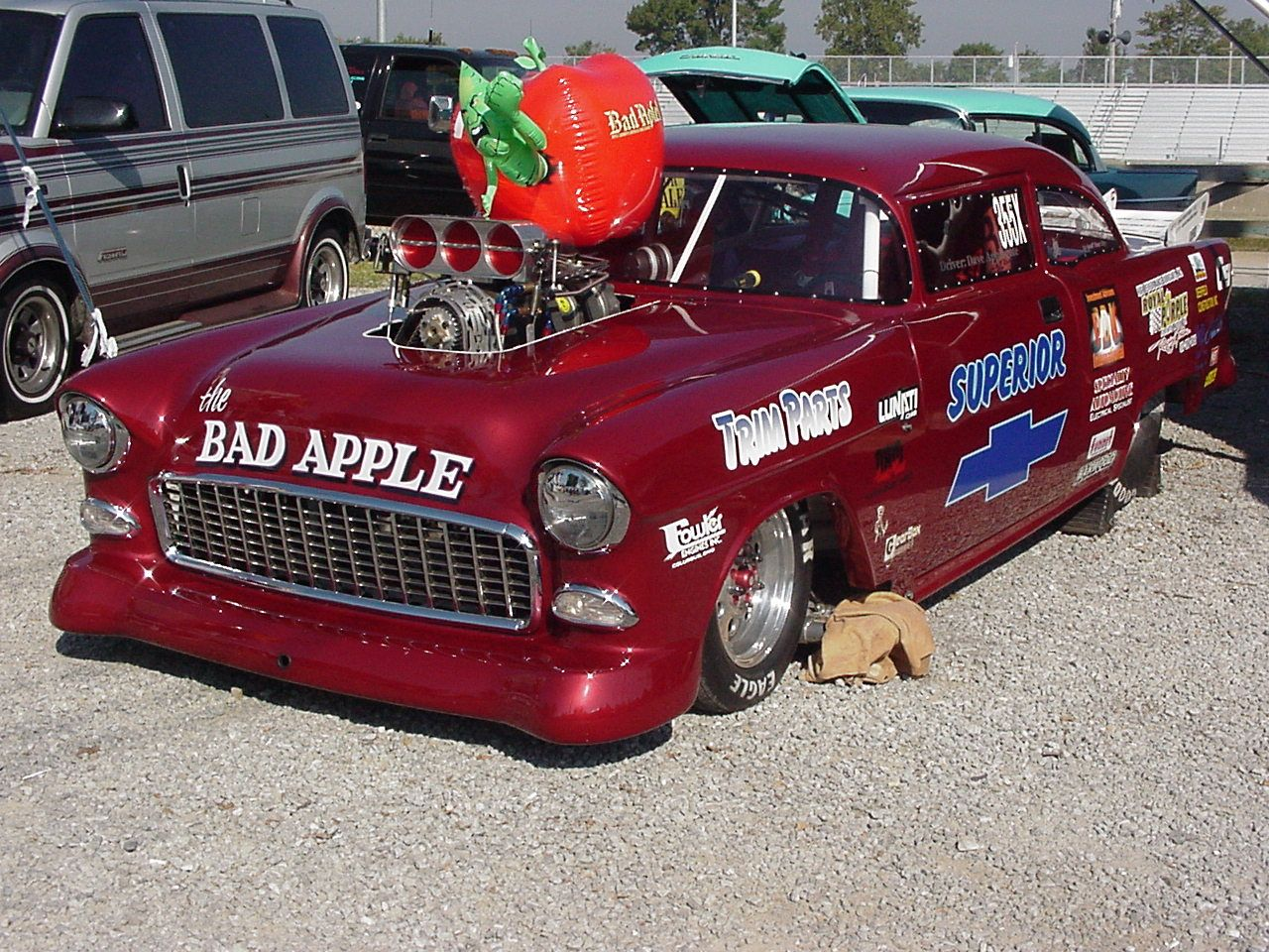 Pictures Of The Bad Apple 55 Chevy Can Be Seen On The Walls Ay Quaker Steak And Lube In Colrain Oio 55 Chevy Bad Apple Quaker Steak