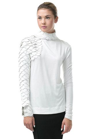 Ivory Reptile Sleeve Turtleneck - Arriving End of March – LaV's Boutique
