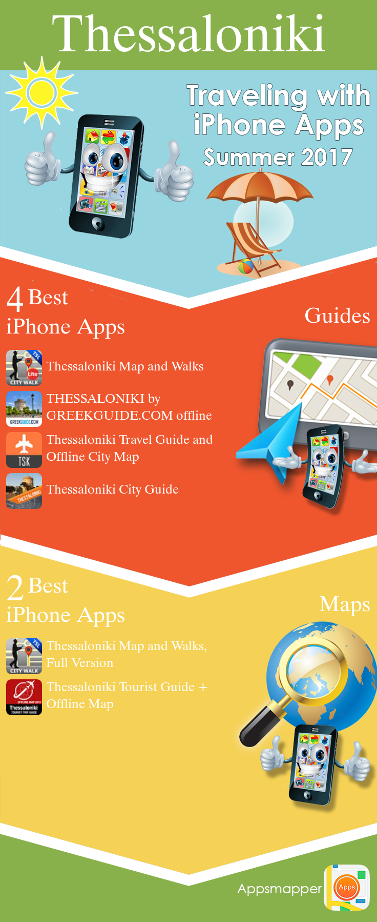 Thessaloniki iPhone apps Travel Guides Maps Transportation