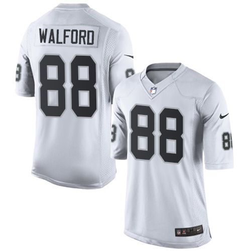 nike limited clive walford white mens jersey oakland raiders 88 nfl road