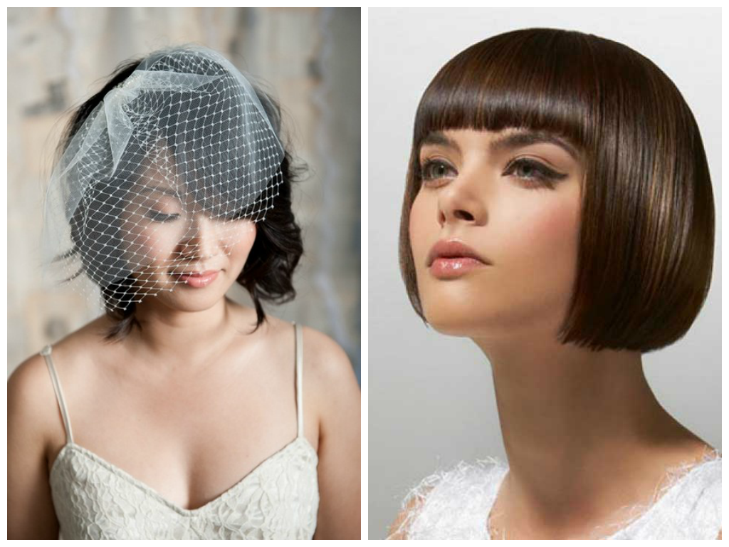 blunt bob hairstyle for your wedding day. | hair & makeup