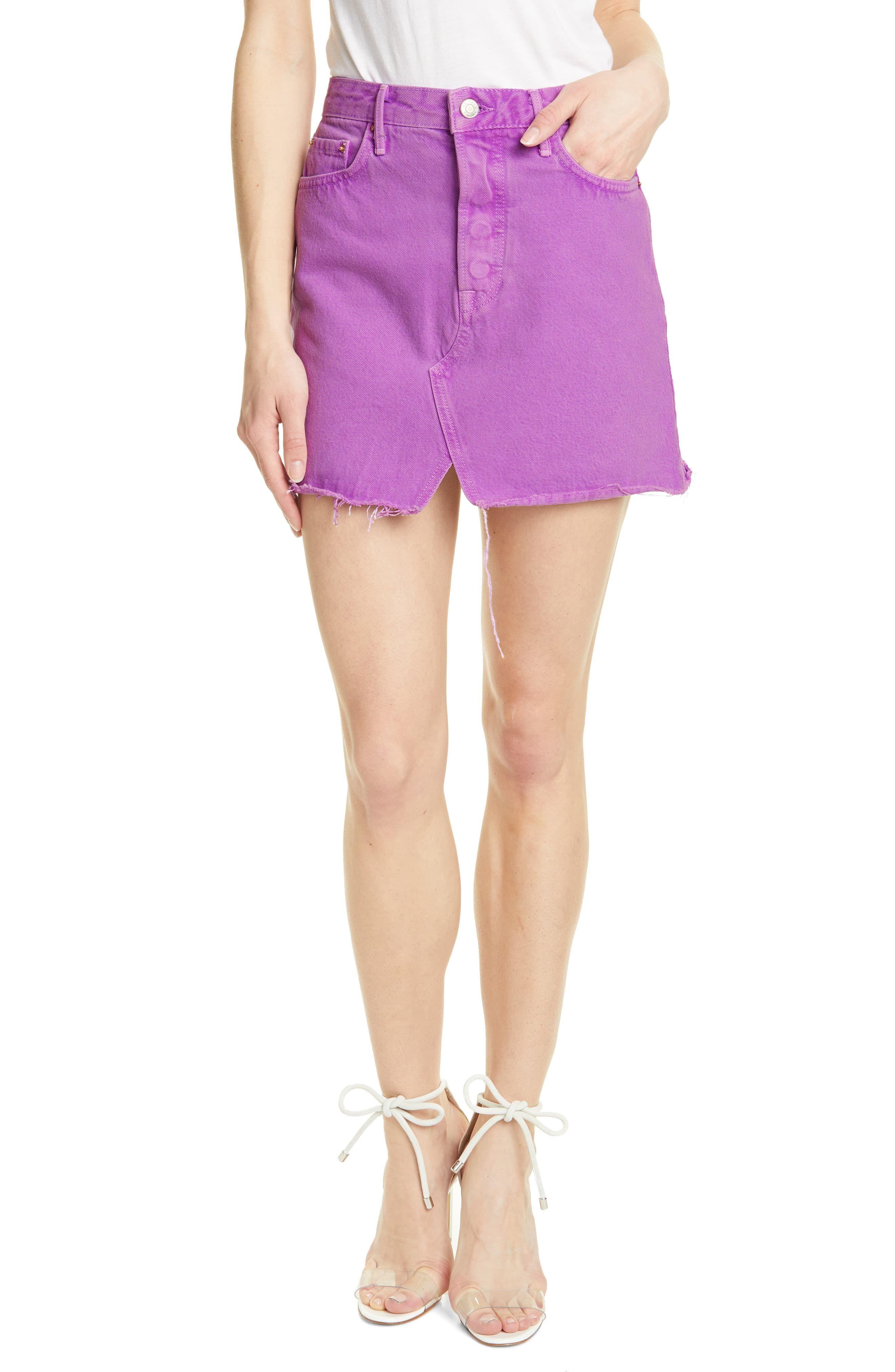 961a7091ee Women's Grlfrnd Milla Denim Miniskirt, Size 23 - Purple in 2019 ...