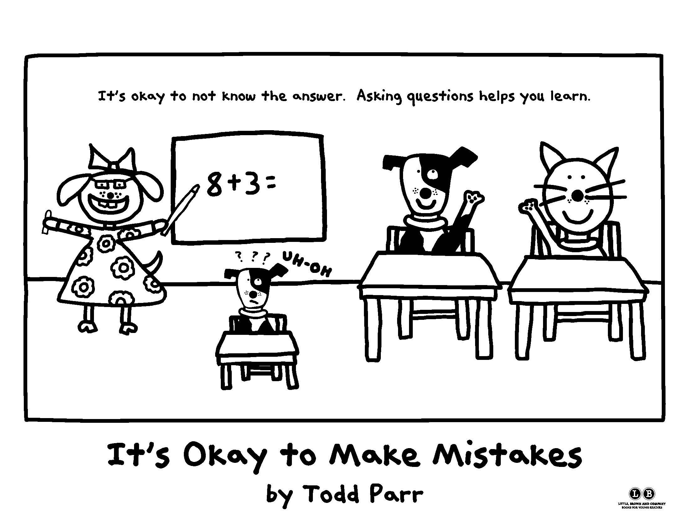 Fill in the blanks with color It s Okay to Make Mistakes by