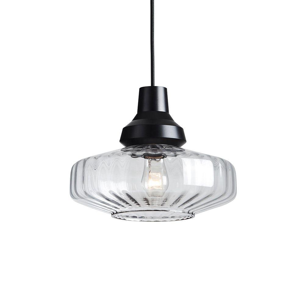 New Wave Optic Pendant Clear By Marie Burgos Design Glass Pendant Light Traditional Pendant Lighting Chandelier Pendant Lights