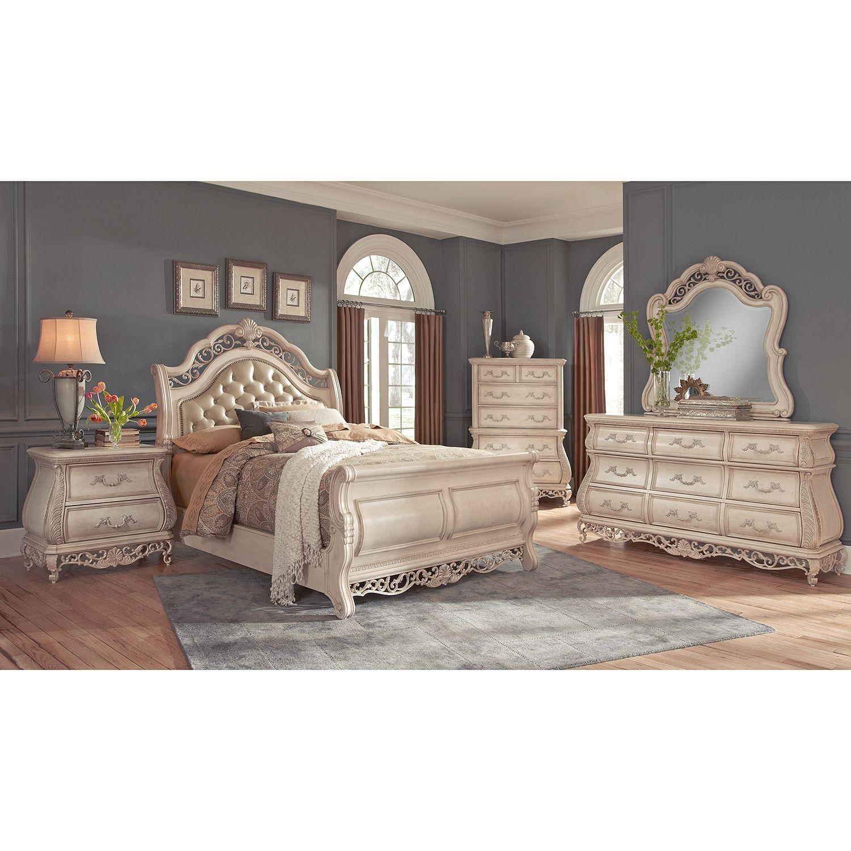 american signature furniture  marquis ii bedroom 6 pc