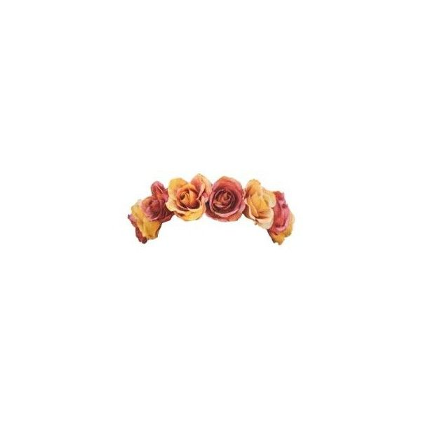 Flower Crown Tumblr Transparents Liked On Polyvore Featuring Accessories Hair Accessories Flower Crown Flower Crown Tumblr Transparent Flowers Flower Crown