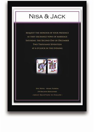 145 Rectangular Wedding Invitations - Queen & King Passion by WeddingPaperMasters.com. $379.90. Now you can have it all! We have created, at incredible prices & outstanding quality, more than 300 gorgeous collections consisting of over 6000 beautiful pieces that are perfectly coordinated together to capture your vision without compromise. No more mixing and matching or having to compromise your look. We can provide you with one piece or an entire collection in a one s...