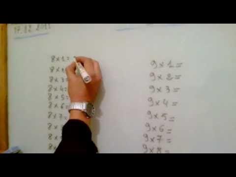 أسهل طريقة لحفظ جدول الضرب 8 و9 Times Tables